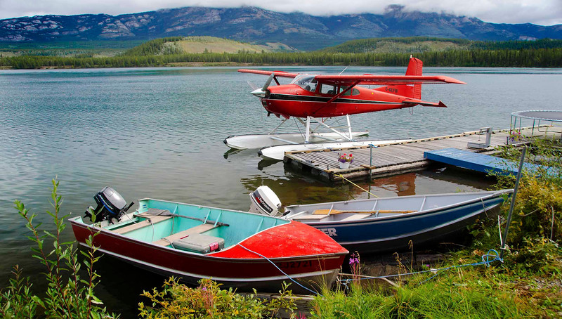 Seaplane port, Whitehorse, Yukon.
