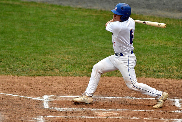 7/11/2019 Mike Orazzi   Staff The Bristol Blues' Will Reiner (6) at Muzzy Field Thursday evening.