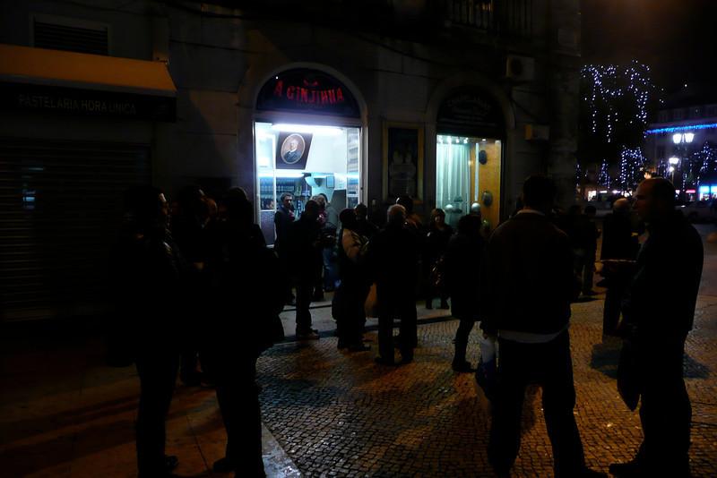 Drinking Ginjinha on the Street. Baixa, Lisbon