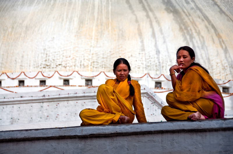 Buddhist pilgrims, Kathmandu, Nepal