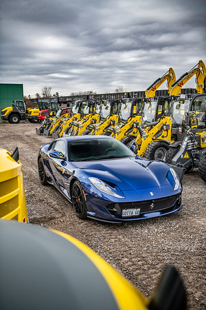 Ferrari 812 Superfast TDF Blue