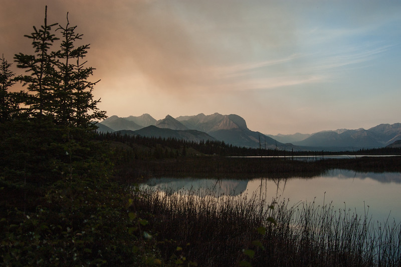 Smoke over Athabasca River