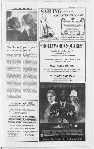 Daily Trojan, Vol. 141, No. 46, November 02, 2000