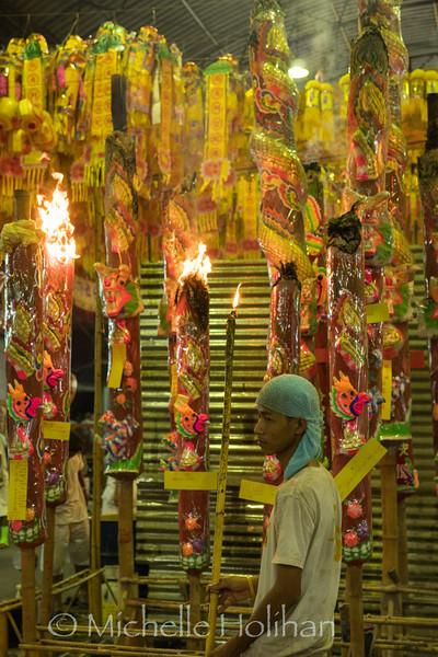 Vegetarian Festival at Chow Sue Shrine, Bangkok