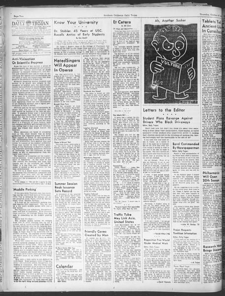 Daily Trojan, Vol. 30, No. 29, October 27, 1938