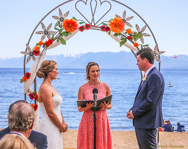 2017-07-28 Casey and Kevin Wedding, Kings Beach, CA