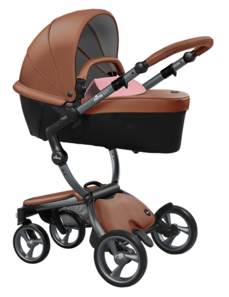 Mima_Xari_Product_Shot_Camel_Flair_Graphite_Chassis_Pixel_Pink_Carrycot.png