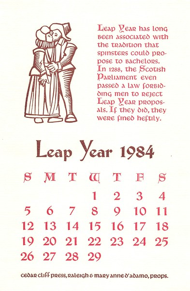 February, 1984, Cedar Cliff Press