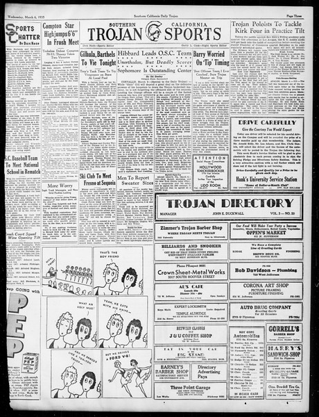 Daily Trojan, Vol. 26, No. 89, March 06, 1935