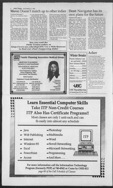 Daily Trojan, Vol. 129, No. 19, September 25, 1996