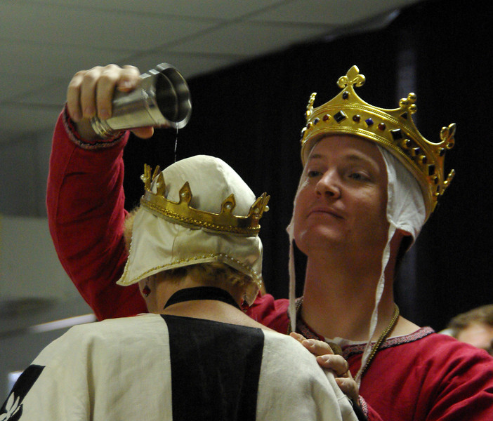 King Kenneth anoints the new beacon herald