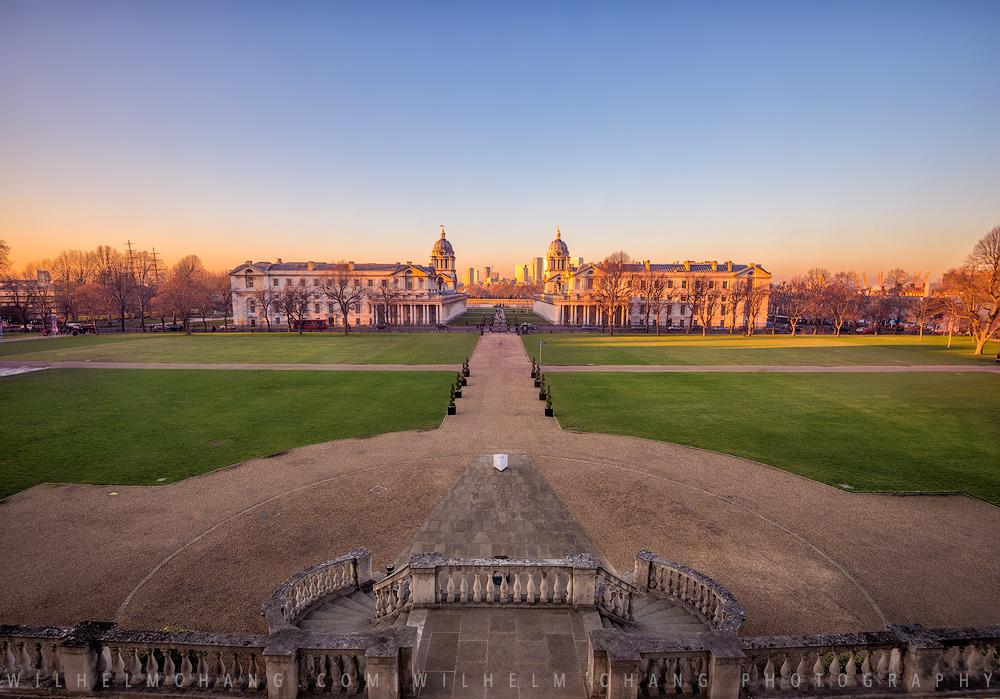 倫敦格林威治女王宅邸鬱金香階梯 Tulip Stairs in Queen's House by 旅行攝影師 張威廉 Wilhelm Chang Photography