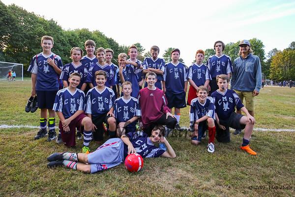 2016-9-29 CMS Boys Soccers vs Portsmouth Middle School