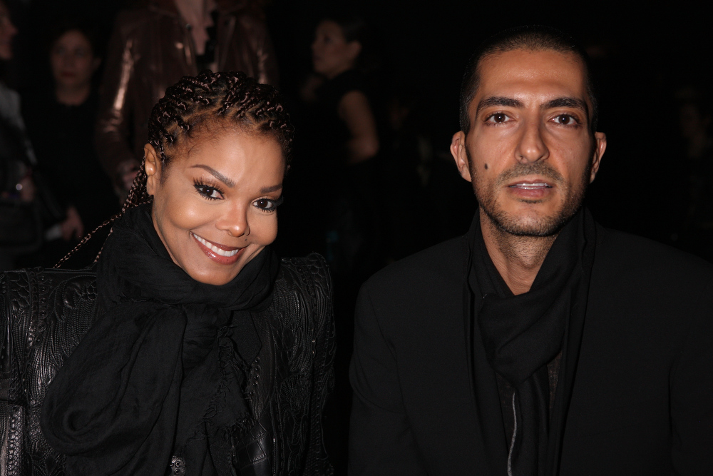 Description of . Janet Jackson and Wissam al Mana attend the Sergio Rossi presentation cocktail during Milan Fashion Week Womenswear Fall/Winter 2013/14 on February 21, 2013 in Milan, Italy.  (Photo by Vincenzo Lombardo/Getty Images for Sergio Rossi)