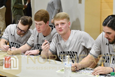 2018-02-01 BB Baseball Schedule Signing at Basketball Game