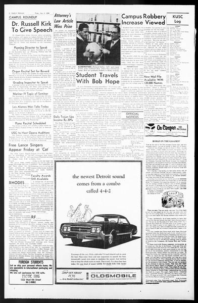 Daily Trojan, Vol. 57, No. 59, January 04, 1966