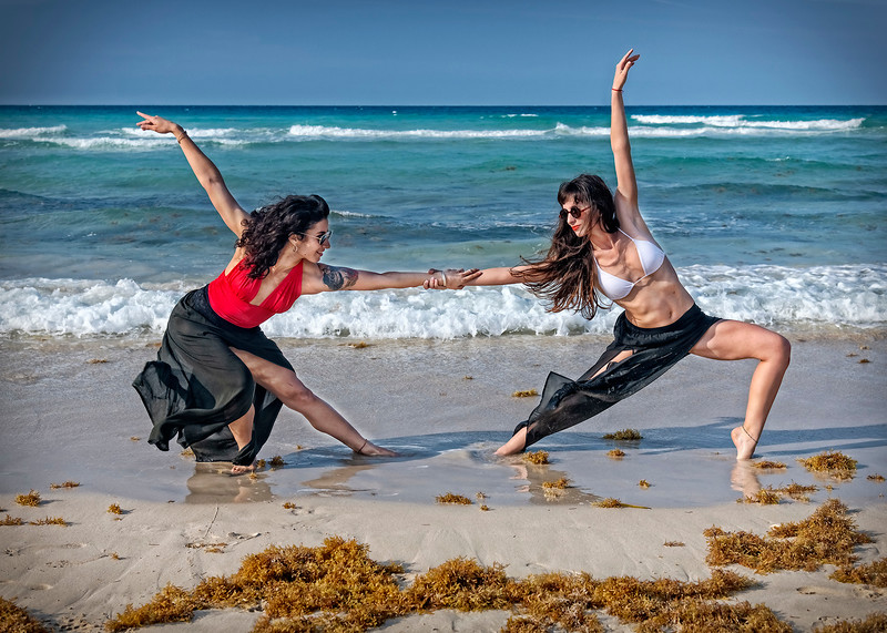 Contemporary Dance on Santa Maria Beach...