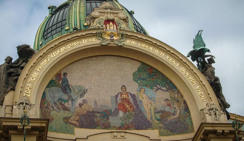 "Prague: Nove Mesto (""New Town""), Municipal Hall, detail"