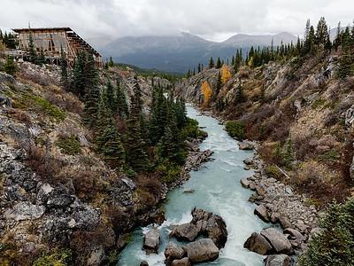 Yukon Suspension Bridge Tutshi River