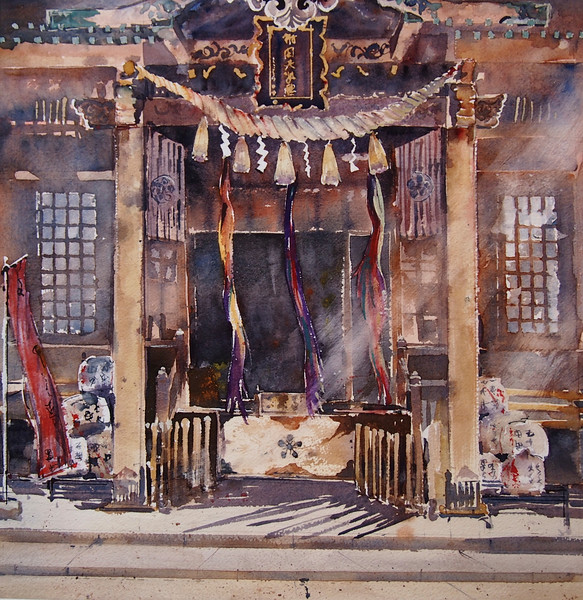 Gabrielle Moulding - Morning Light at the Temple, Machida, Tokyo