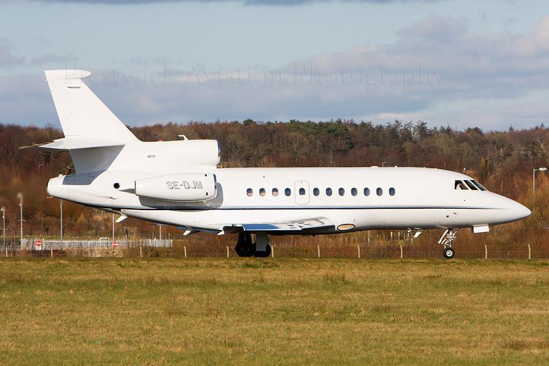 SE-DJM. Dassault Falcon 900EX. Private. Prestwick. 160308.