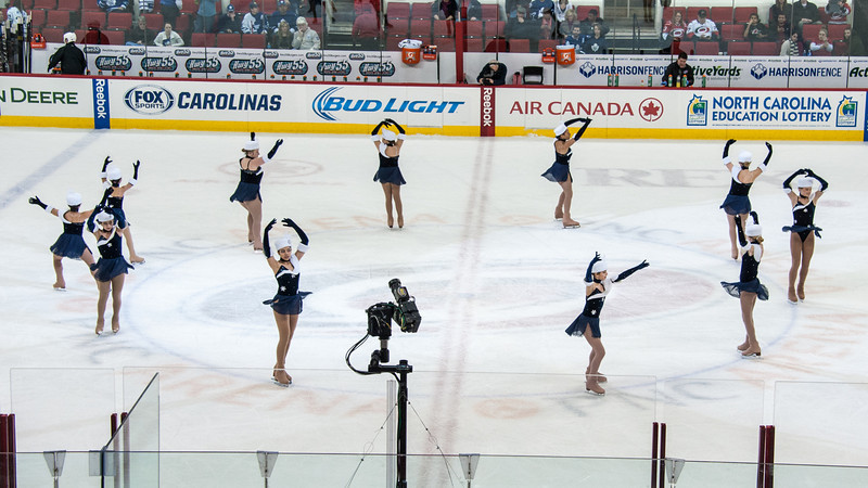 January 9, 2013. Triangle Figure Skating Club performs at first intermission of Carolina Hurricanes vs. Toronto Maple Leafs, PNC Arena, Raleigh, NC.  Copyright © 2013 Jamie Kellner. All rights reserved.