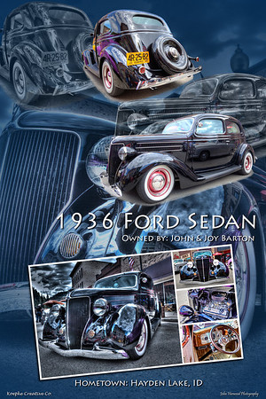1936 Ford 2 Door Custom Sedan
