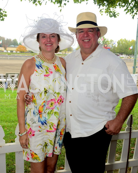 Jennifer and Mike Retzbach,  NVTRP Ride to Thrive Polo Classic, Great Meadow, Sep 28, 2019, photo by Nancy Milburn Kleck NVTRP Ride to Thrive Polo Classic, Great Meadow, Sep 28, 2019, photo by Nancy Milburn Kleck