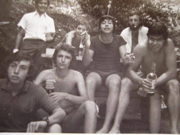"""Piscina Andrada"" Paulo Pinto, Ivo Venâncio, Peixoto  ?, Jorge, Alvaro Rodrigues, Paulocas Martins"