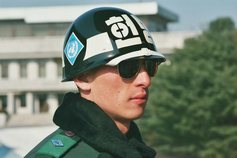 2001 ROK Soldier Panmunjom near North Korea.jpg