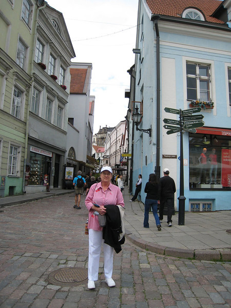 On the street in Tallinn