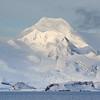 Mount Friesland on Livingston Island looming over the tiny C'amara Base (Argentina)