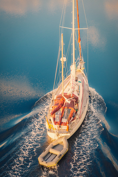 Sailing up Loch Etive