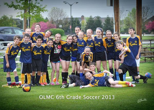 CYO 6th Grade OLMC Soccer 5/3/13