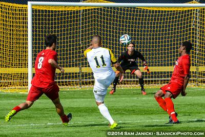 2nd Half from UM Men's Soccer Vs Louisville 8-23-14