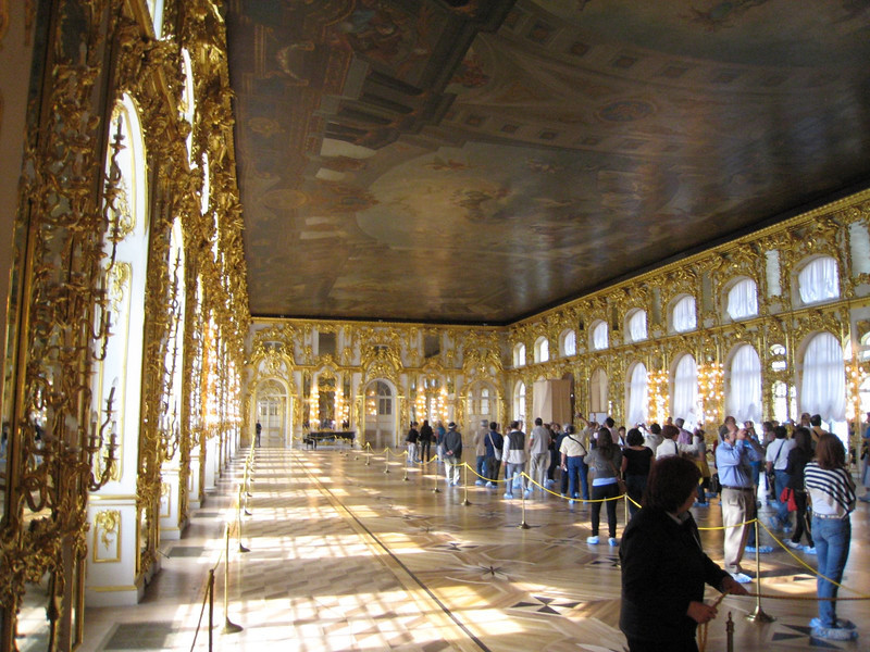 Catherine's Palace at Pushkin (port of St. Petersburg) - the Gold Room