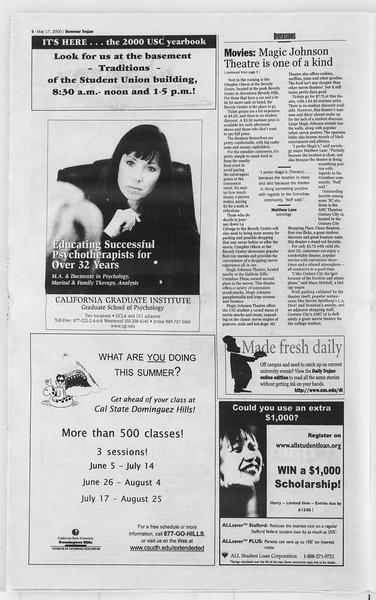 Summer Trojan, Vol. 140, No. 1, May 17, 2000