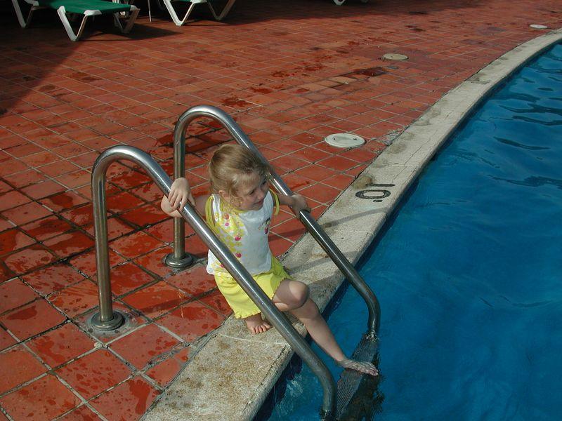 Stormie at the Hotel Hispanola pool.