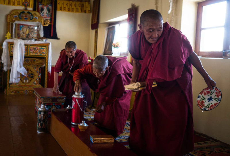 Many nuns renounced their families and material possessions to become Tibetan Buddhist nuns. But they had no designated accommodation to pray and meditate. They got a home when the Chattnyanling nunnery was built by Ladakh Nuns Association (LNA) in 2012 with the help of sponsors from Holland.