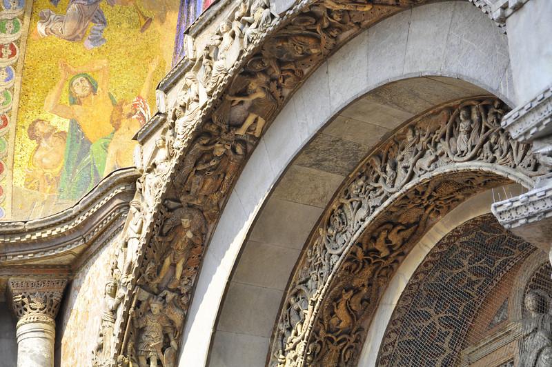 ornate entry into St Mark's Basilica