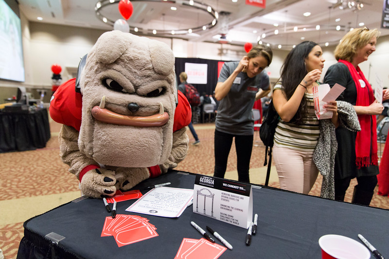 Description: Capital Campaign Campus KickoffDate of Photo: 11/10/2016Credit: Andrew Davis Tucker, University of GeorgiaPhotographic Services File: 34401-314The University of Georgia owns the rights to this image or has permission to redistribute this image. Permission to use this image is granted for internal UGA publications and promotions and for a one-time use for news purposes. Separate permission and payment of a fee is required to use any image for any other purpose, including but not limited to, commercial, advertising or illustrative purposes. Unauthorized use of any of these copyrighted photographs is unlawful and may subject the user to civil and criminal penalties. Possession of this image signifies agreement to all the terms described above.