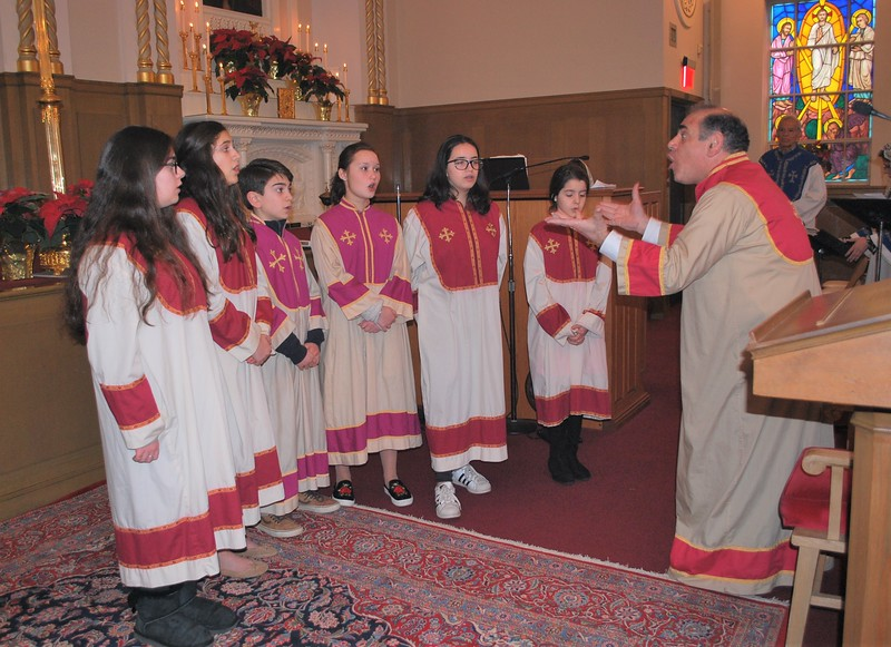 Holy Trinity's Youth Choir led by Dan Teager