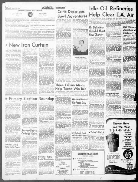 Daily Trojan, Vol. 40, No. 4, September 16, 1948
