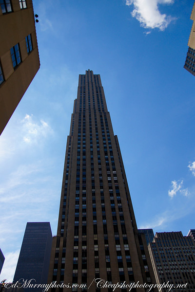 30 Rock: The 70 floor, 872 foot GE Building (formerly the RCA Building) at Rockefeller Center in New York City.
