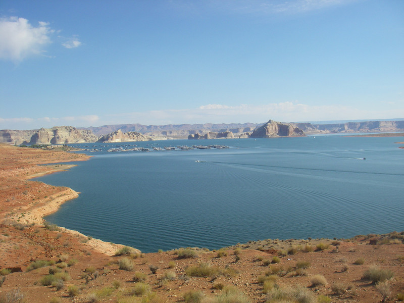 Lake Powell  Surface area: 161,390 acres (65,310 ha)  Max. water depth: 583ft (178m)