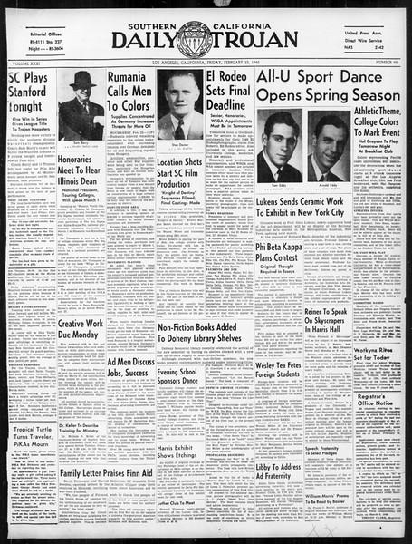 Daily Trojan, Vol. 31, No. 90, February 23, 1940