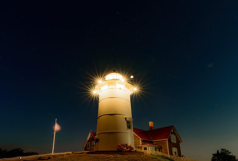 Nobska Lighthouse at Night