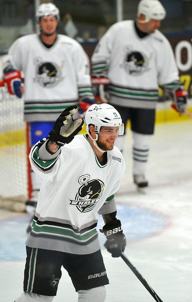 CAPTION INFORMATION Dallas Stars center Tyler Seguin gets introduced at a Plymouth Whalers Alumni Game at Compuware Arena in Plymouth Twp on Aug 16, 2014.  (Mark Bialek / Special to the Det News)