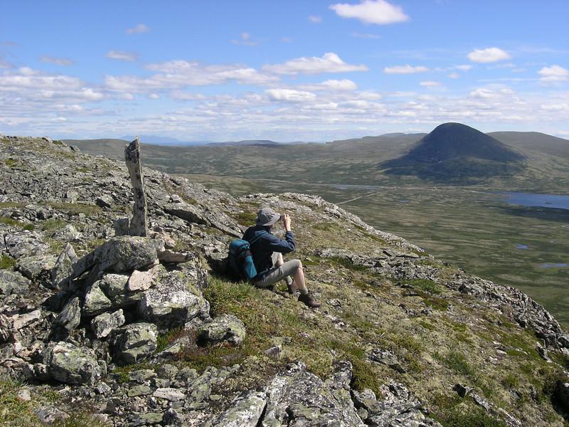 Peak of Muen 1424 masl in Ringebu