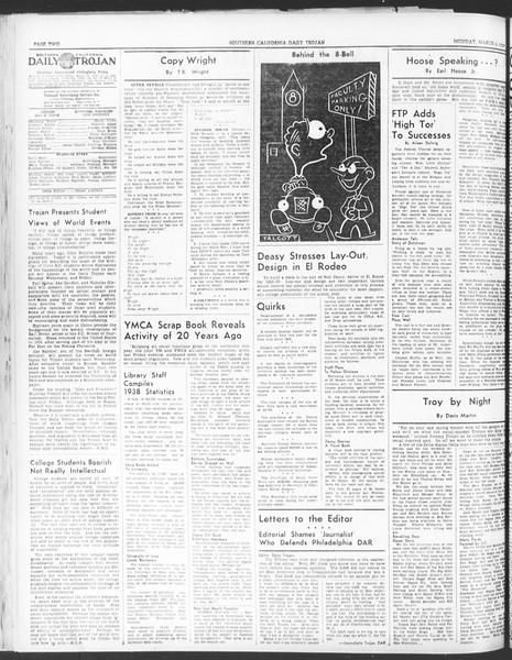 Daily Trojan, Vol. 30, No. 91, March 06, 1939